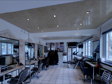 Inside view of Rinaldi hair and beauty salon